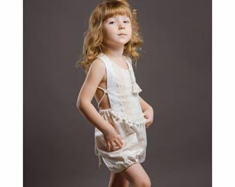 Baby Romper Baby Girl Clothing Beach Romper Playsuit Birthday Girl Gypsy romper Boho Romper JumperToddler Boho Bohemian Size: 6 m-8 years