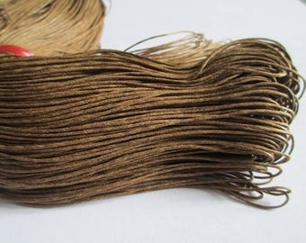 20 meters waxed Brown cotton thread 1 mm