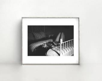 Marianne. 8x10 Fine Art Print - Black and White Photography - Woman Portrait