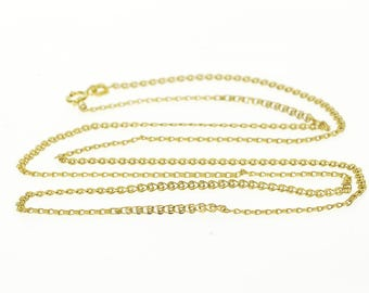 """10k 1.9mm Pressed Sprial Swirl Link Chain Necklace Gold 22"""""""