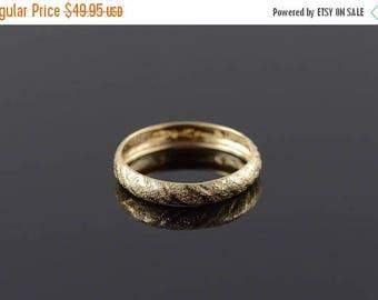 Big SALE 10k 4.1mm Textured Wedding Band Ring Gold