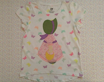 Girl's T-shirt with basket
