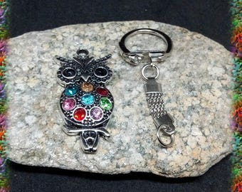 3 DiY OWL Keyring and rhinestones
