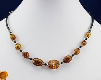 Natural Baltic amber beads amber adult necklace Baltic amber necklace cognac amber beads amber jewelry adults