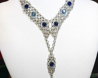 Stunning blue and silver necklace