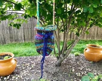 Magical forest fairy crochet bag