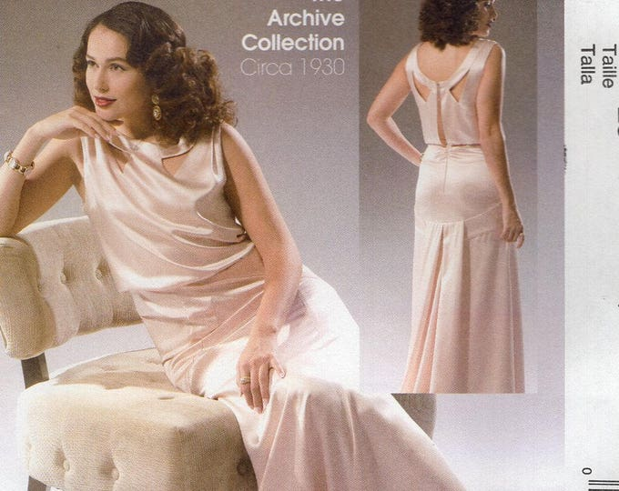 FREE US SHIP McCall's 7154 Sewing Pattern Vintage 1930s's Art Deco Evening Gown Dress Size 6/14 14/22 Bust 30 31 32 34 36 38 40 42 44 New