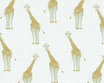 Safari Party Giraffe Mint with Sparkle by Melissa Mortenson for Riley Blake Designs
