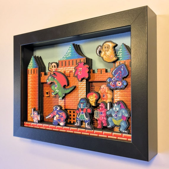 Wonder Boy in Monster Land 3D Arcade Shadowbox 5x7 Diorama Sega Genesis