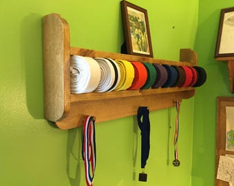 Rounded Martial Arts Belt and Trophy Display