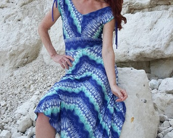 Summer Dance dress - GRETA - Aqua