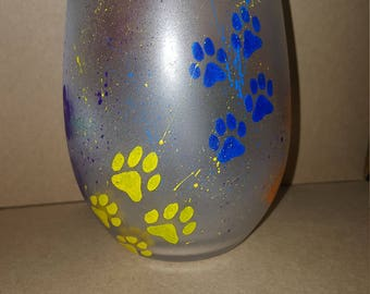 Painted Glass-Paw Paint