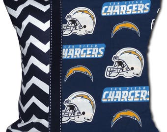 NEW NFL San Diego Chargers Football Decorative Throw Pillow - Includes Pillow Form