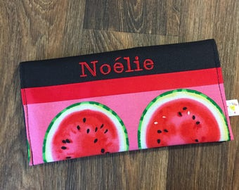 Protects health record watermelon personalized with name