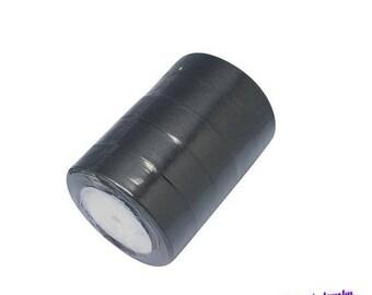 Black 25mm satin ribbon