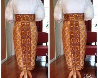 Africa pencil skirt