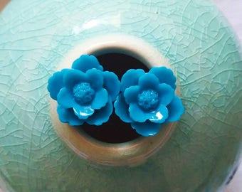 Blue Floral Cufflinks