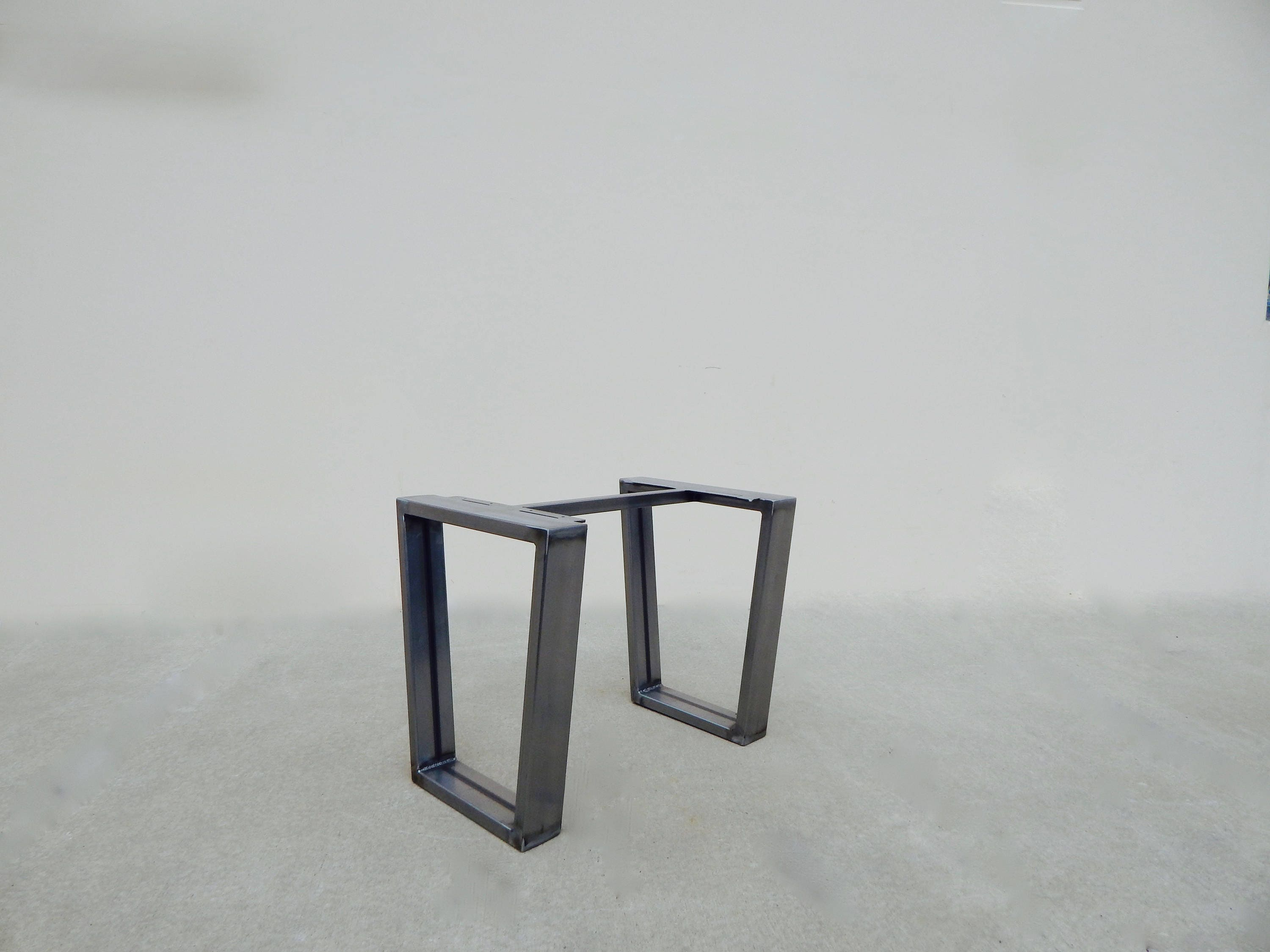 Industrial Table Base Trapezoid Metal Table Legs Custom Table - Welded table base