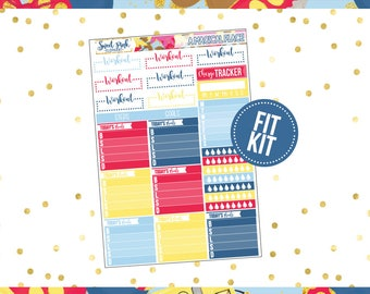 A Magical Place // Fit Kit [FK017] -Stickers for the Erin Condren Happy Planner Life planner