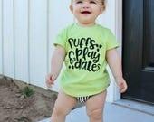 puffs and play dates - trendy kids shirts - tshirts for kids - hip kid clothing - tshirts
