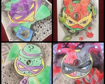 Cartoon Donut Series Prints