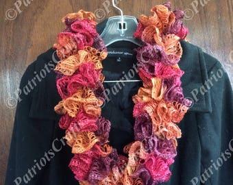 Teen/Woman Ruffle Scarf, Crochet
