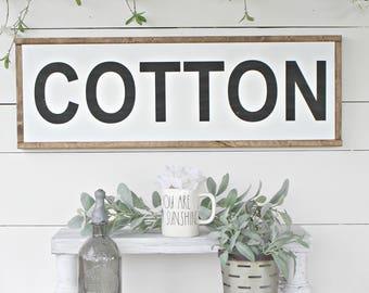 Cotton Wood Sign,farmhouse,farmhouse sign,home decor,farmhouse decor,framed sign,modern farmhouse,Home and Living, Wall Decor,Shiplap