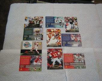 Set of 800 NEW Pinnacle 1995 FOOTBALL CARDS , 120 different players