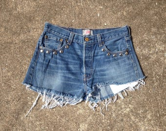 Vintage Levis 501 Cutoff Hand Studded Shorts