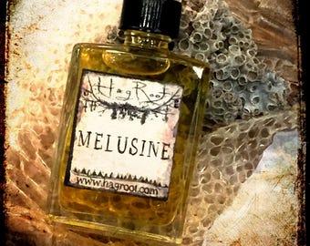 MELUSINE-(Melon, Lily, Sea Salt, Sandalwood, Ylang Ylang, Pink Peppercorn) Perfume Oil, Ritual Oil, Sea Magick