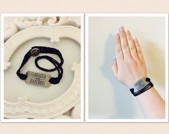 Curious and Curiouser Wrap-Around Bracelet