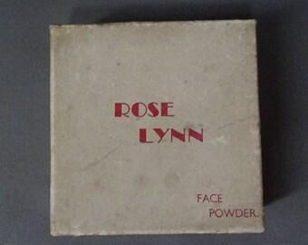 Vintage 1940s/40s Rose Lynn FACE POWDER BOX Boudoir Display
