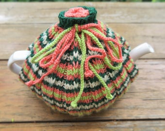 Tea cosy,Cosy, Hand knitted tea cosy, Tea drinkers gift,Tea pot cover,Tea pot cosy, Handmade tea cosy,Made with love tea cosy,Christmas gift