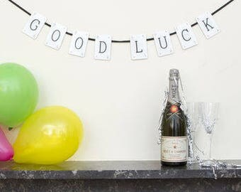 Good Luck Vintage Card Bunting by VINTAGE PLAYING CARDS