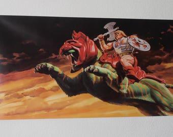 MOTU Banner/ Flag He-Man and Battle Cat