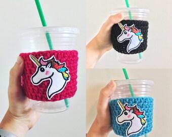 Unicorn Cozy // Tea Cozy // Unicorn Gift // Reusable Coffee Sleeve // Cozie