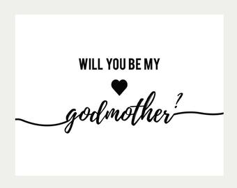 Godmother Printable Etsy