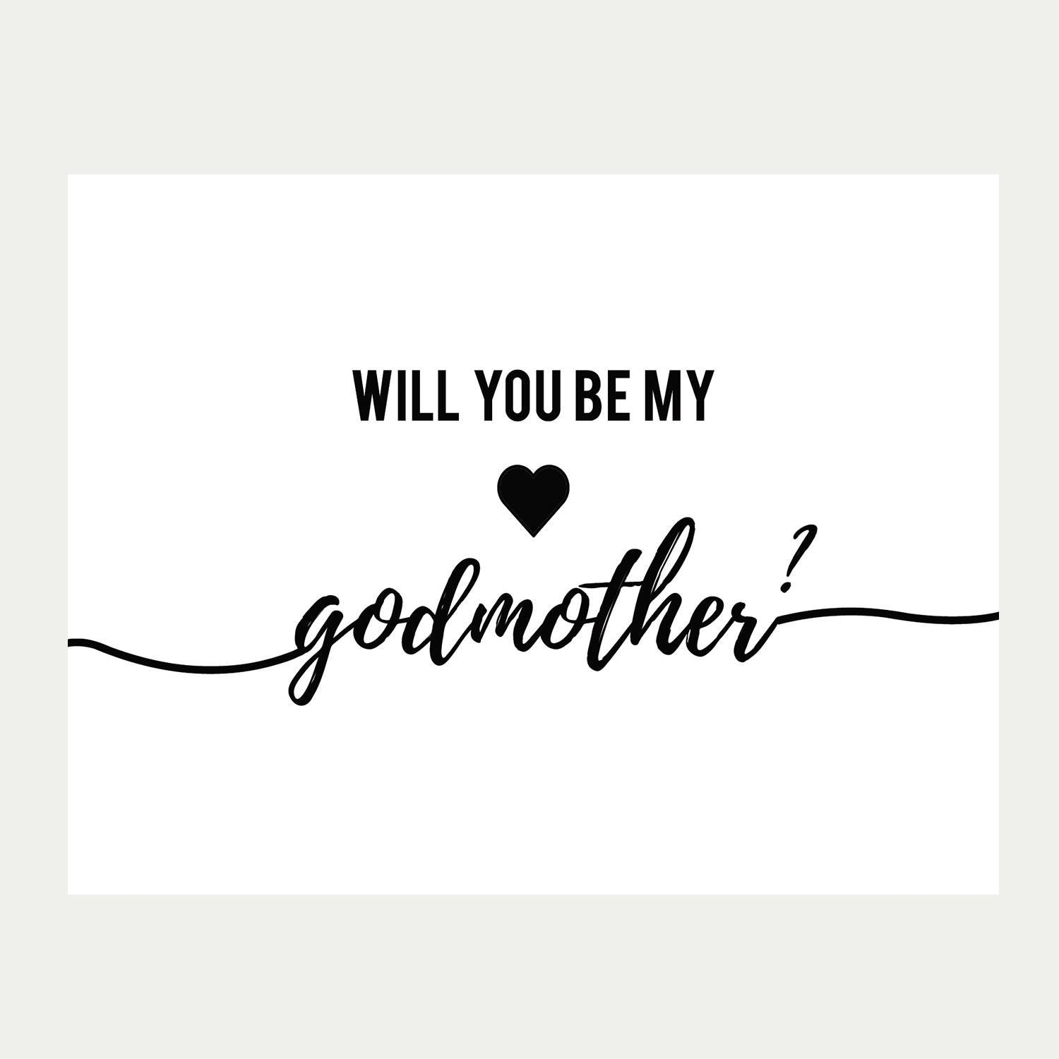 Home Decor On Line Will You Be My Godmother Card Printable Baptism Card