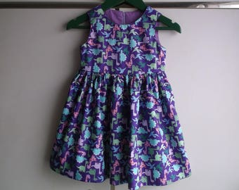 Purple dinosaurs dress