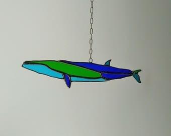 Blue whale Sei whale  pendant suncatcher