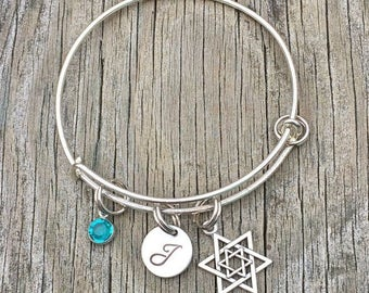 20%OFF Summer Sale- Jewish bracelet - Jewish jewelry - Star of david  - Hebrew jewelry - Jewish - Bracelet - Hebrew bracelet - Hanukkah