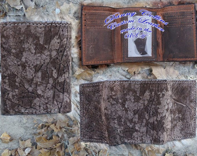 Hippo Leather Tri fold wallet, Leather wallet, Exotic Leather wallet