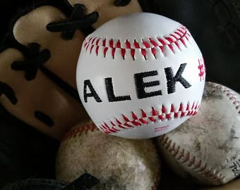 Custom, Personalized embroidered Baseball or Softball!!