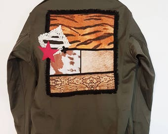 Genuine custom khaki army jacket