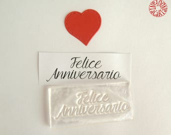 """""""Happy Anniversary"""" clear stamp"""