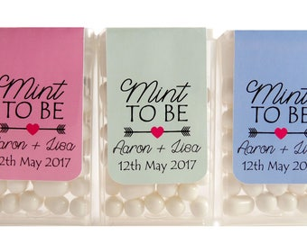 Personalised Mint to Be Engagement Wedding Favour Tic Tacs