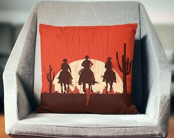 Cowboy Pillow | Western Pillow | Cowboy Gift | Western Decor | Cowboy Decor | Western Gift | Western Throw Pillow | Western Cushion