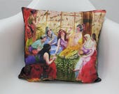 Pillow Cases 17x17 Concubines in The Harem Printed Cushion Cover