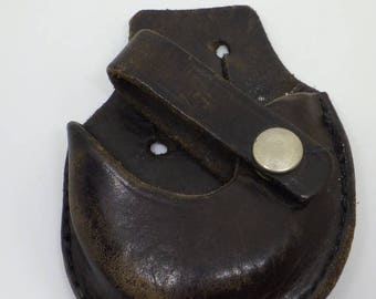 Vintage Leather Handcuff Holder /Pouch for Belt - Police Military - Unique Fathers Day Gift!