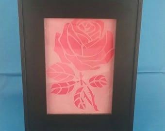 Framed Rose Etching